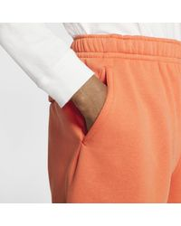 Nike Orange Sportswear Club Graphic Shorts for men