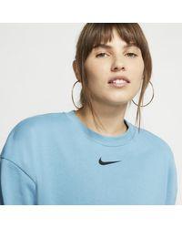 Maglia a girocollo in French Terry Sportswear Swoosh di Nike in Blue