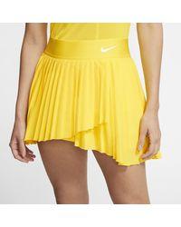 Nike Yellow Court Victory Tennis Skirt