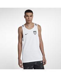 Nike Dri-FIT LeBronärmelloses Basketballoberteil für Herren in White für Herren