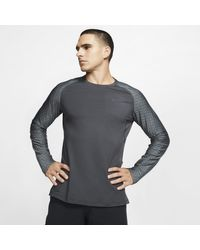 Maglia da training a manica lunga Pro di Nike in Gray da Uomo