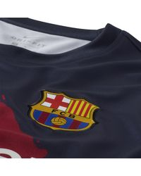 Haut de footballà manches courtes FC Barcelona pour Nike pour homme en coloris Blue