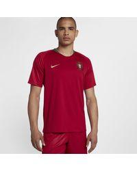 Maglia da calcio 2018 Portugal Stadium Home di Nike in Red da Uomo