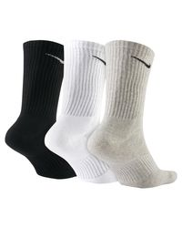 Cotton Cushion Crew Socken (3 Paar) di Nike in Multicolor