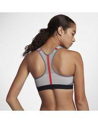 Nike Gray Motion Adapt Women's High Support Sports Bra