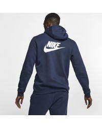 Felpa Club con cappuccio x Stranger Things di Nike in Blue da Uomo