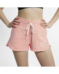 Shorts Sportswear di Nike in Pink