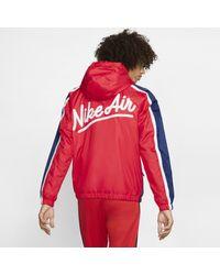 Giacca woven Air di Nike in Red da Uomo