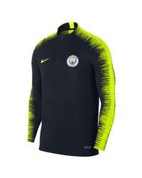 Nike Blue Manchester City Fc Vaporknit Strike Drill Long-sleeve Football Top for men