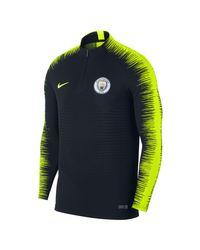 Maglia da calcio a manica lunga Manchester City FC VaporKnit Strike Drill di Nike in Blue da Uomo