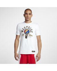 Nike White Dri-fit Westside All-stars Men's Basketball T-shirt for men