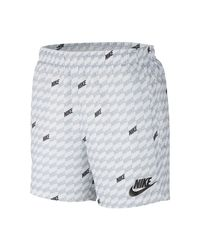 Nike Sportswear -Webshorts mit Print in White für Herren