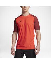 Nike Orange Strike Aeroswift Short-sleeve Football Top for men