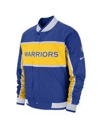 Giacca Golden State Warriors Courtside NBA di Nike in Blue da Uomo