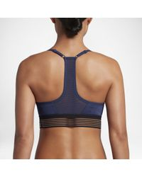 e2f49a9d5457e Lyst - Nike Indy Cooling Women s Light Support Sports Bra in Blue