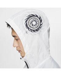 Giacca da running Windrunner Wild Run di Nike in White da Uomo