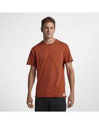 Nike Hurley L7 Pocket Crew Herren-T-Shirt in Brown für Herren