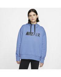Felpa pullover con cappuccio Air di Nike in Blue