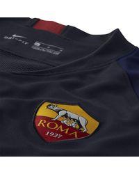 Maglia da calcio a manica corta Breathe A.S. Roma Strike di Nike in Blue da Uomo