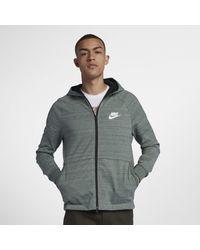 0fbb00bb Nike Sportswear Advance 15 Full-zip Hoodie in Gray for Men - Lyst