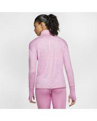 Haut de running demi-zippé pour Nike en coloris Pink