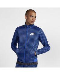 Nike Blue Sportswear Track-Jacket mit Grafik