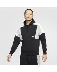 Nike Black Sportswear Colour-block Pullover Hoodie for men