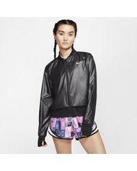 Nike Black Full-zip Running Jacket