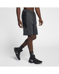 Nike Black Therma Flex Showtime Basketball Shorts for men