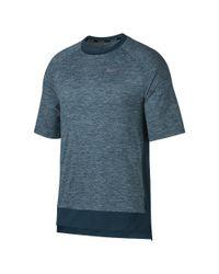 Nike Blue Element Men's Short Sleeve Running Top for men