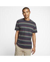 T-shirt Hurley Dri-FIT Harvey Stripe Patch di Nike in Gray da Uomo