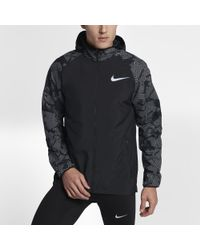 30010e14a75a Lyst - Nike Essential Flash Men s Running Jacket in Black for Men