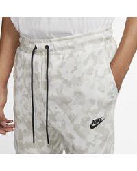 Jogger con stampa Sportswear Tech Fleece di Nike in White da Uomo