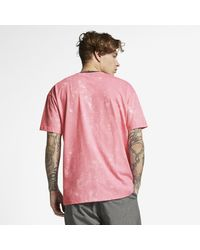 Maglia a manica corta Hurley Dri-FIT Harvey Casbah di Nike in Pink da Uomo
