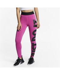 Nike Red Sportswear Leg-A-See JDI -Leggings mit hohem Bund