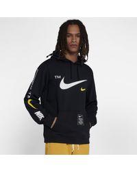 Felpa pullover con cappuccio Sportswear Club di Nike in Black