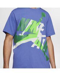 T-shirt Jordan Jumpman Classics di Nike in Purple da Uomo