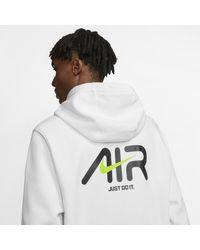 Felpa pullover con cappuccio Sportswear di Nike in White da Uomo