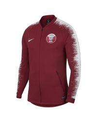 Veste de football Qatar Anthem pour Nike pour homme en coloris Red