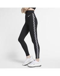 Nike Black Sportswear Striped Leggings