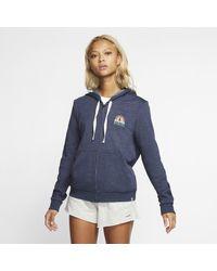 Nike Blue Hurley Sail Away Perfect -Hoodie mit durchgehendem Reißverschluss