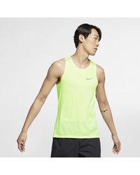 Nike Rise 365 Lauf-Tanktop für Herren in Green für Herren