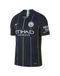 Nike Blue 2018/19 Manchester City Fc Vapor Match Away Football Shirt for men