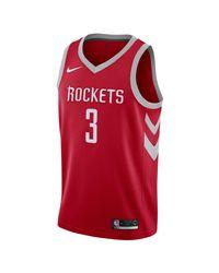 Nike Red Chris Paul Rockets Icon Edition Nba Swingman Jersey for men