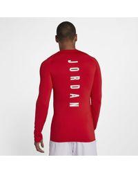 6f4969fb Nike Jordan 23 Alpha Long-sleeve Basketball Top in Red for Men - Lyst