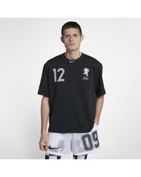 ae93f082df13 Nike X Off-white Men's Cropped T-shirt in Black for Men - Lyst