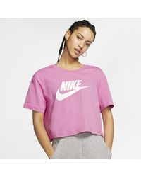 Nike Pink Sportswear Essential Kurz-T-Shirt für