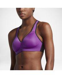 e791df73d889 Lyst - Nike Pro Rival Women s High Support Sports Bra in Purple