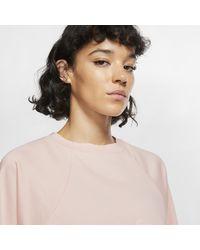 Haut de training en tissu Fleece Dri-FIT Get Fit pour Nike en coloris Pink