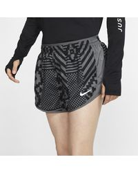 Nike Gray Tempo Luxe Running Shorts